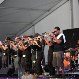 USA Today, Photo of Trumpet Mafia at Jazz Fest